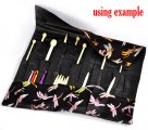 Black Knitting Needle Case (DP & Hooks) 47x38cm, sold per packet of 1