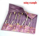 Pink Knitting Needle Case (DP & Hooks) 47x38cm, sold per packet of 1