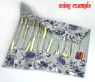 Silver-Grey Knitting Needle Case (DP & Hooks) 47x38cm, sold per packet of 1