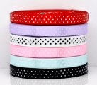 "Mixed 6 Colors 3/8"" Wide Dot Satin Ribbon Scrapbooking, sold per packet of 150 Yards (135M)"