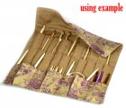 Pale Yellow Knitting Needle Case (DP & Hooks) 47x38cm, sold per packet of 1
