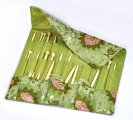 Light Green Knitting Needle Case (DP & Hooks) 47x38cm, sold per packet of 1d per packet of 1