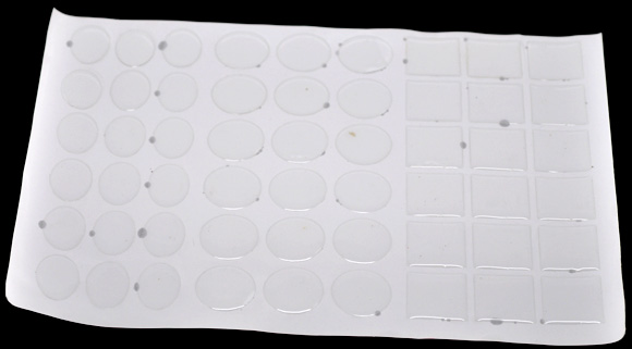 Mixed Clear Epoxy Domes Resin Stickers 25mmx18mm-25mmx25mm, sold per packet of 270 - Click Image to Close
